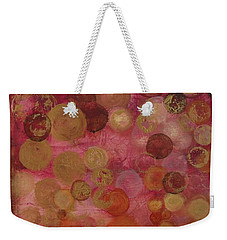Layers Of Circles On Red Weekender Tote Bag