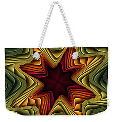 Layers Of Color Weekender Tote Bag by Deborah Benoit