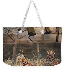 Laying Hens Weekender Tote Bag by Kim Henderson