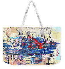 Laziness - Large Bright Pastel Abstract Art Weekender Tote Bag