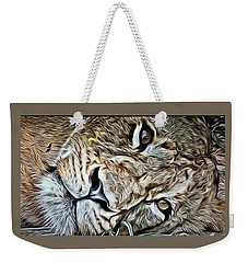 Lazy Lion Weekender Tote Bag