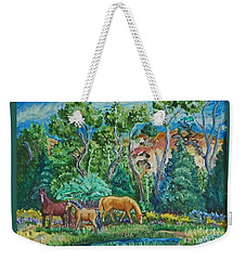 Lazy Wyoming Afternoon Weekender Tote Bag