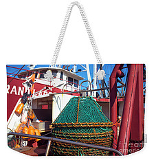 Long Beach Island Green Fishing Nets Weekender Tote Bag