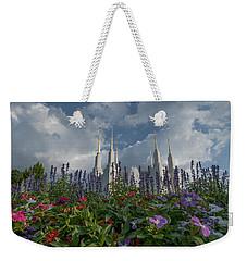 Lds Garden Flowers Weekender Tote Bag