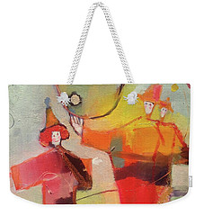 Weekender Tote Bag featuring the painting Le Cirque by Michelle Abrams