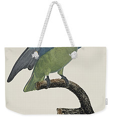 Le Perroquet Geoffroy Male / Red Cheeked Parrot - Restored 19th C. By Barraband Weekender Tote Bag by Jose Elias - Sofia Pereira