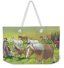 Leading The Bell Mare Weekender Tote Bag