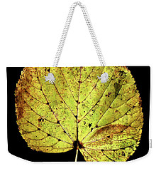 Weekender Tote Bag featuring the photograph Leaf 10 by David J Bookbinder