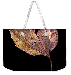Weekender Tote Bag featuring the photograph Leaf 11 by David J Bookbinder