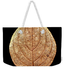 Weekender Tote Bag featuring the photograph Leaf 12 by David J Bookbinder