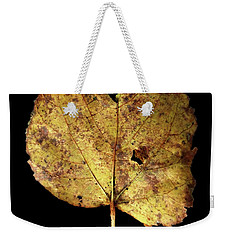 Weekender Tote Bag featuring the photograph Leaf 13 by David J Bookbinder