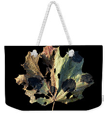 Weekender Tote Bag featuring the photograph Leaf 16 by David J Bookbinder
