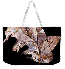 Weekender Tote Bag featuring the photograph Leaf 2 by David J Bookbinder