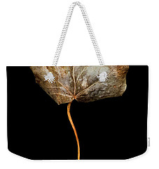 Weekender Tote Bag featuring the photograph Leaf 3 by David J Bookbinder
