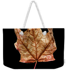 Weekender Tote Bag featuring the photograph Leaf 4 by David J Bookbinder