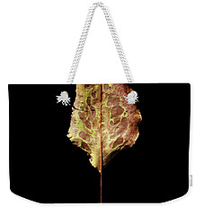 Weekender Tote Bag featuring the photograph Leaf 6 by David J Bookbinder