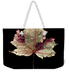 Weekender Tote Bag featuring the photograph Leaf 7 by David J Bookbinder