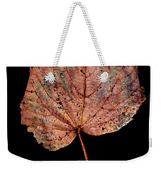 Weekender Tote Bag featuring the photograph Leaf 8 by David J Bookbinder