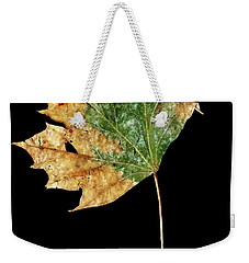Weekender Tote Bag featuring the photograph Leaf 9 by David J Bookbinder