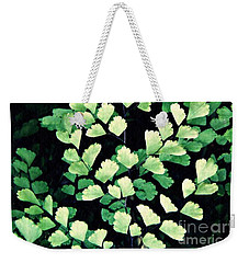 Leaf Abstract 15 Weekender Tote Bag by Sarah Loft