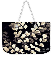 Leaf Abstract 15 Sepia Weekender Tote Bag by Sarah Loft