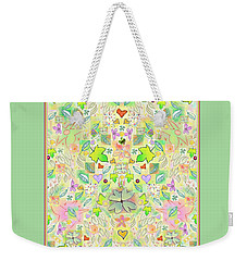 Leaf And Flower And Heart Pattern  Weekender Tote Bag