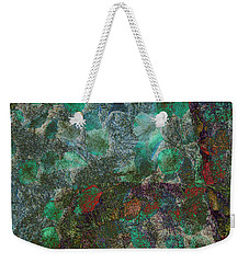 Weekender Tote Bag featuring the photograph Leaf And Rock Composite 3 by Elaine Teague