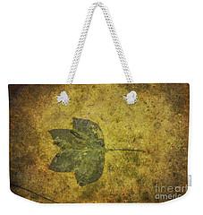 Weekender Tote Bag featuring the digital art Leaf In Mud One by Randy Steele