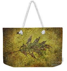 Weekender Tote Bag featuring the digital art Leaf In Mud Two by Randy Steele