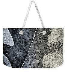 Leaf On Ice Weekender Tote Bag
