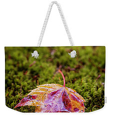 Leaf On Moss Weekender Tote Bag