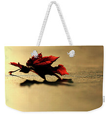 Leaf On The Garage Floor Weekender Tote Bag