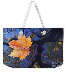Leaf On The Water Weekender Tote Bag