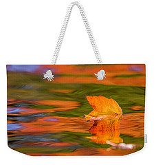 Leaf On Water Weekender Tote Bag