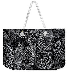 Weekender Tote Bag featuring the photograph Leaf Pattern by Wayne Sherriff
