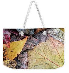 Leaf Pile Up Weekender Tote Bag by Todd Breitling