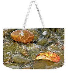 Leaf, Rock Leaf Weekender Tote Bag