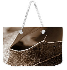 Leaf Study In Sepia II Weekender Tote Bag