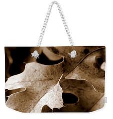 Leaf Study In Sepia IIi Weekender Tote Bag by Lauren Radke