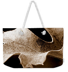 Leaf Study In Sepia Weekender Tote Bag