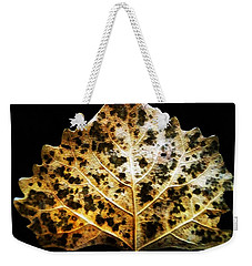 Leaf With Green Spots Weekender Tote Bag by Joseph Frank Baraba