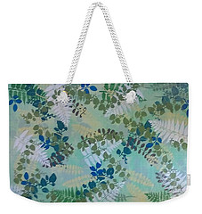 Leafy Floor Cloth - Sold Weekender Tote Bag
