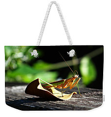 Leafy Praying Mantis Weekender Tote Bag