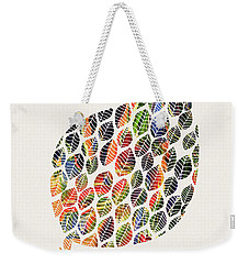 Leafy Palette Weekender Tote Bag by Deborah Smith