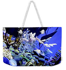Weekender Tote Bag featuring the photograph Leafy Sea Dragon by Kelly Mills
