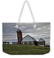 Weekender Tote Bag featuring the photograph Lean On Me by Robert Geary
