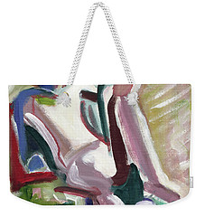 Leaning Back Weekender Tote Bag