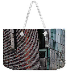 Weekender Tote Bag featuring the photograph Leaning In At The High Line by Rona Black