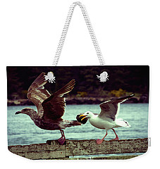 Leaning Into The Wind Weekender Tote Bag