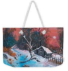 Leaning Tree Sunset Weekender Tote Bag